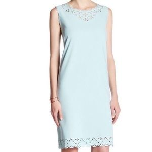 J Crew euc sz 4 blue laser cutout dress sz 4